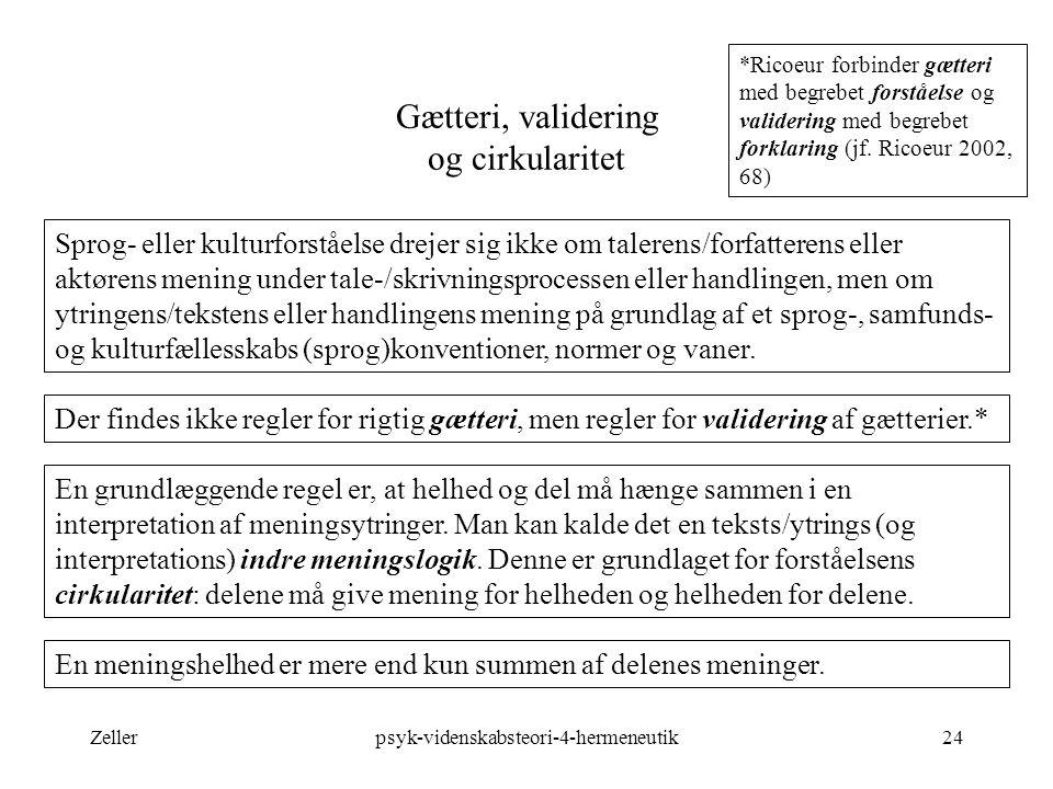 Gætteri, validering og cirkularitet