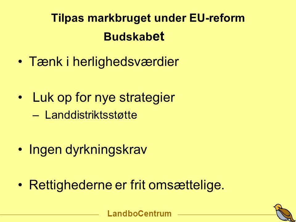 Tilpas markbruget under EU-reform Budskabet