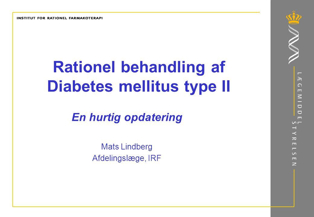 Rationel behandling af Diabetes mellitus type II