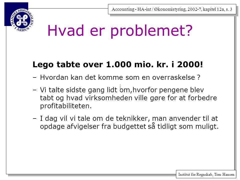 Hvad er problemet Lego tabte over 1.000 mio. kr. i 2000!