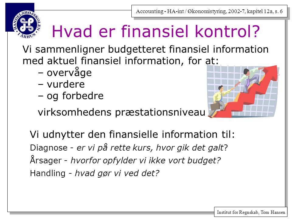 Hvad er finansiel kontrol