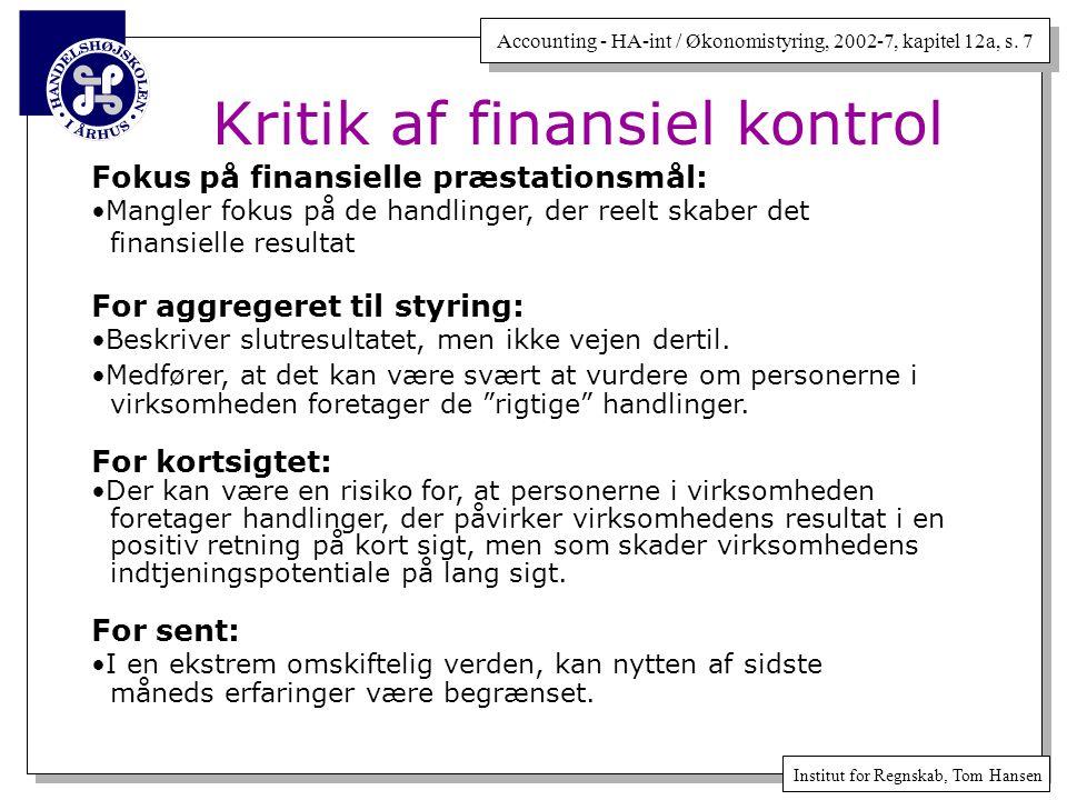 Kritik af finansiel kontrol