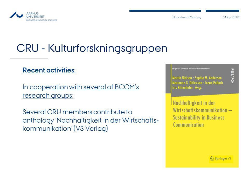 CRU - Kulturforskningsgruppen