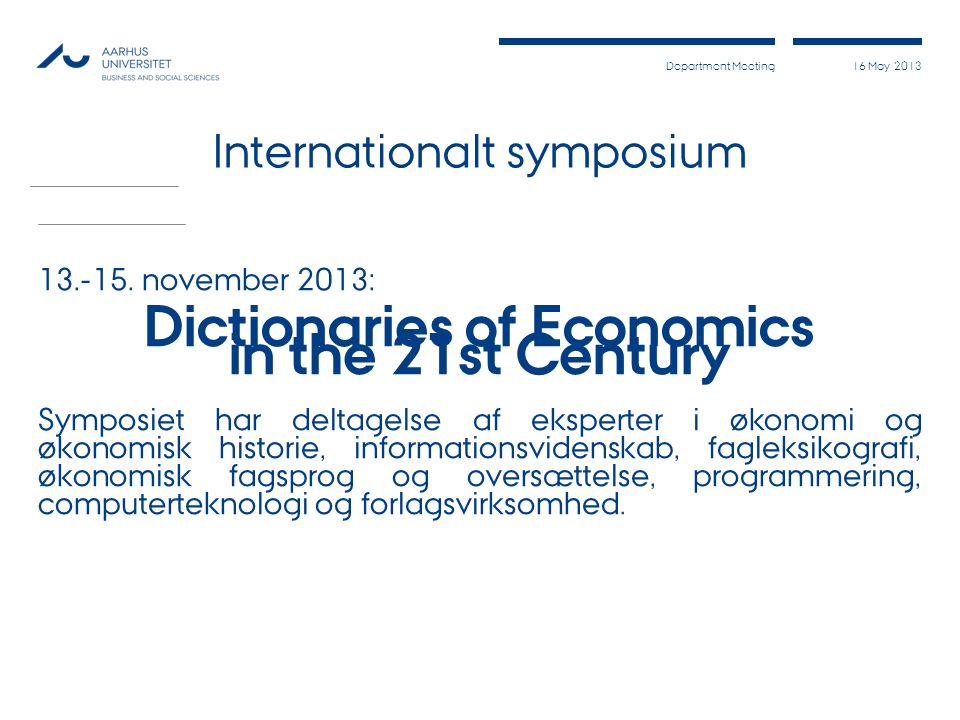 Internationalt symposium
