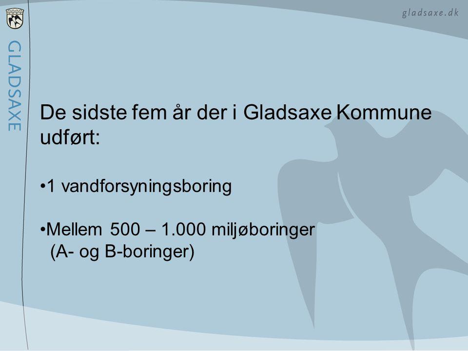 De sidste fem år der i Gladsaxe Kommune udført: