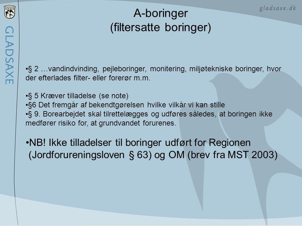 A-boringer (filtersatte boringer)