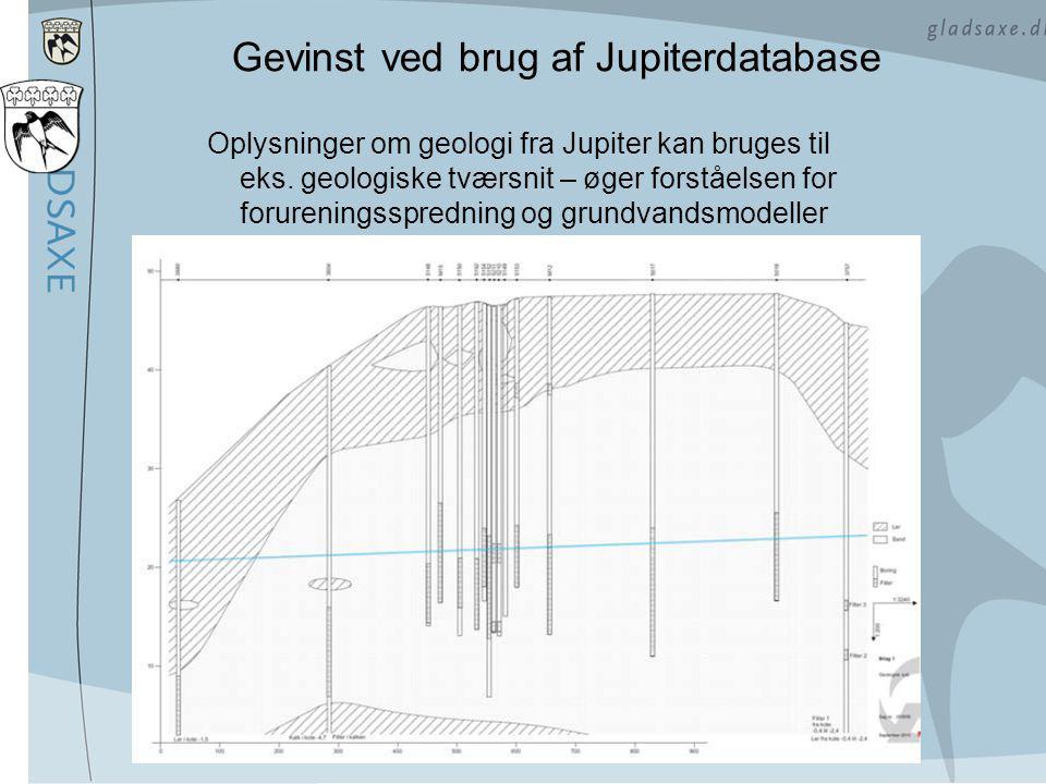 Gevinst ved brug af Jupiterdatabase