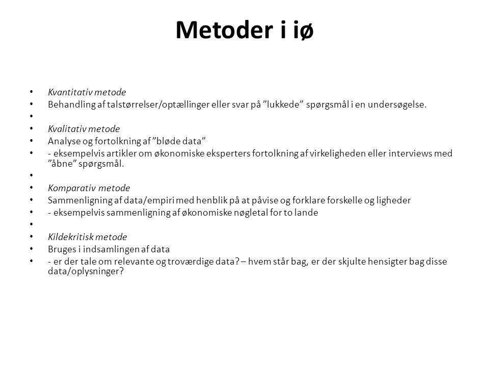Metoder i iø Kvantitativ metode
