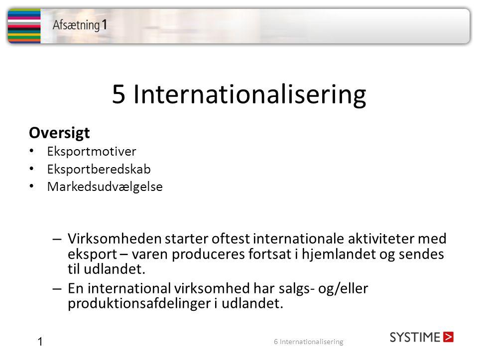 5 Internationalisering