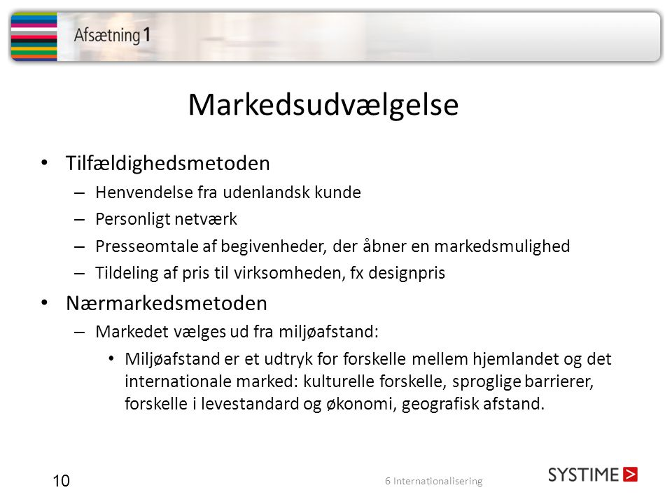 6 Internationalisering