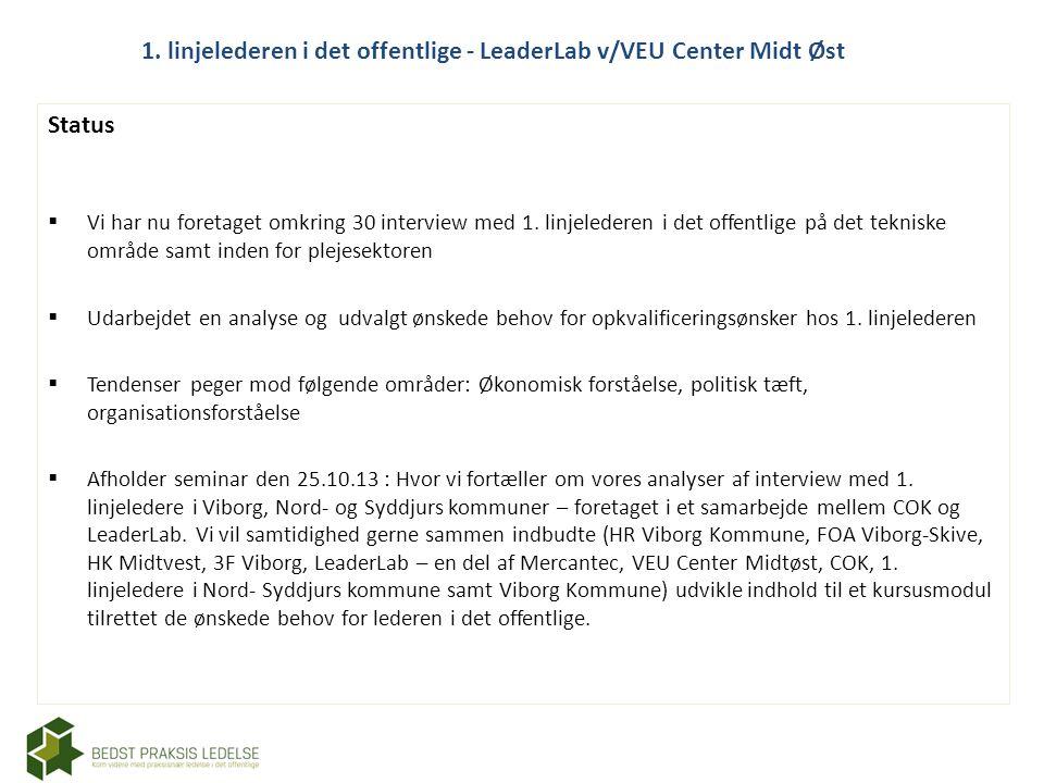 1. linjelederen i det offentlige - LeaderLab v/VEU Center Midt Øst