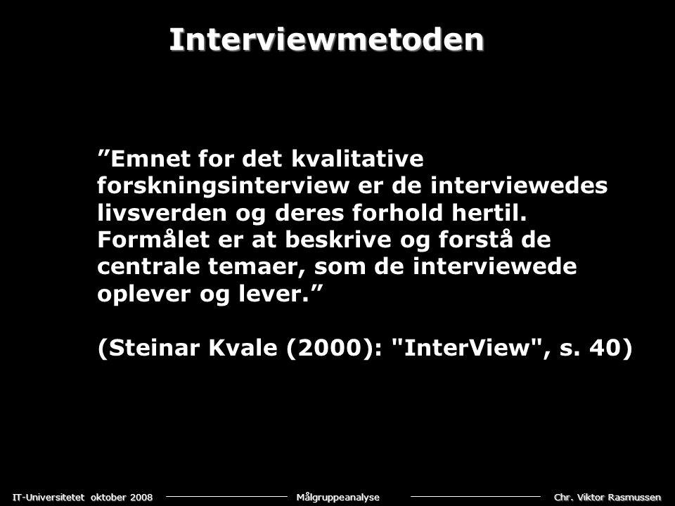 Interviewmetoden