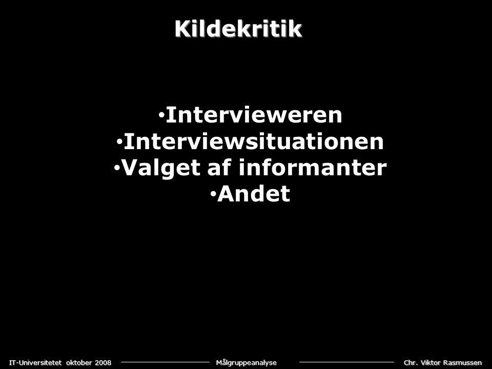 Interviewsituationen