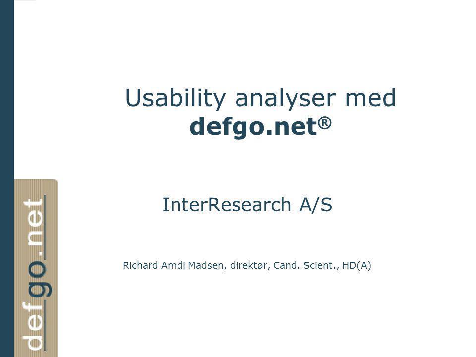 Usability analyser med defgo.net®