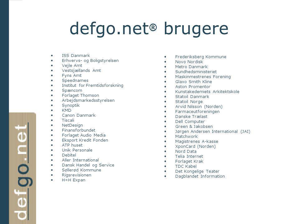 defgo.net® brugere ISS Danmark Erhvervs- og Boligstyrelsen
