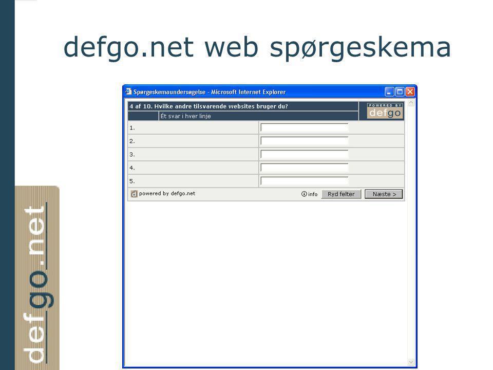 defgo.net web spørgeskema