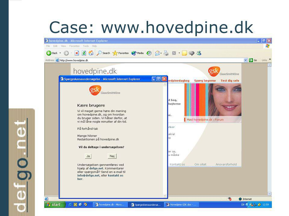 Case: www.hovedpine.dk
