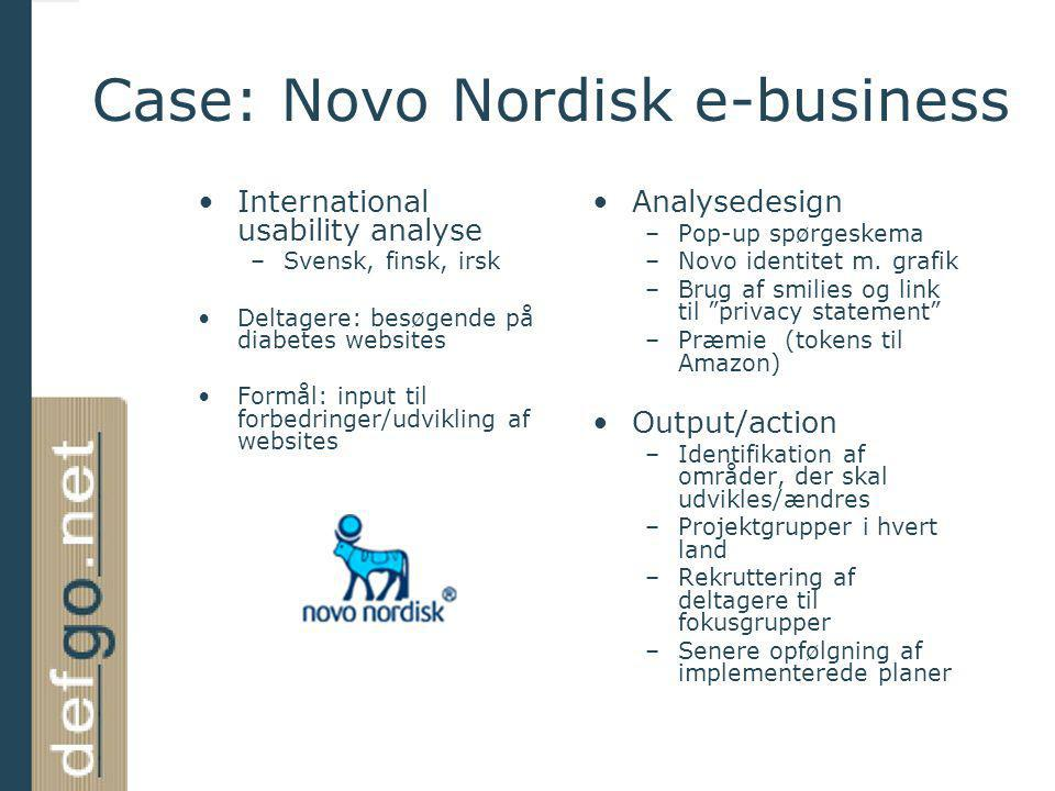 Case: Novo Nordisk e-business