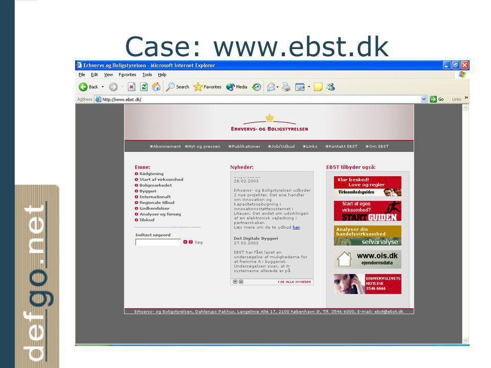 Case: www.ebst.dk