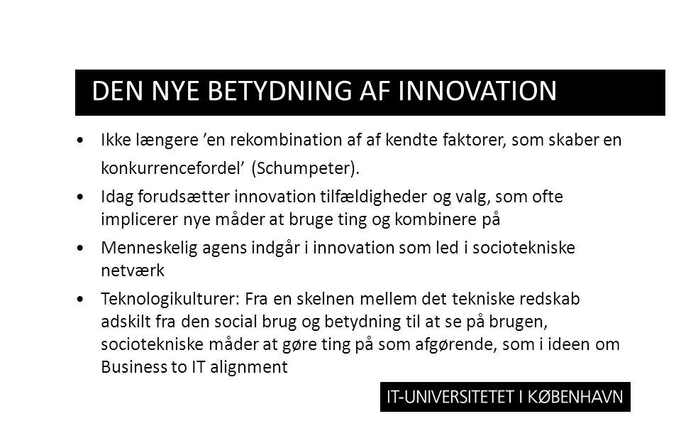 den nye betydning af Innovation