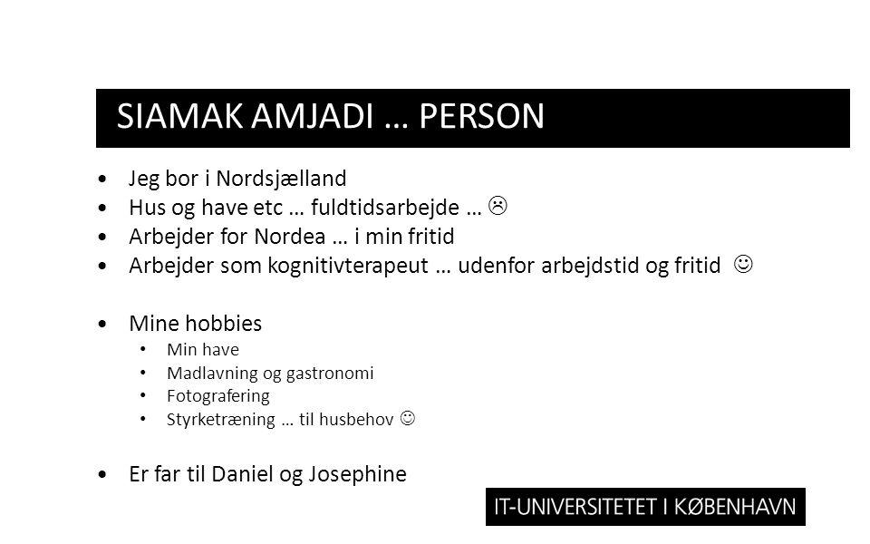 Siamak amjadi … person Jeg bor i Nordsjælland