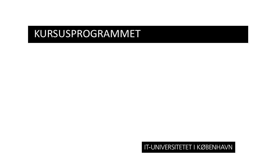 Kursusprogrammet
