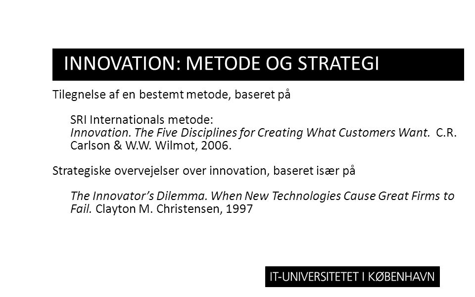Innovation: metode og strategi