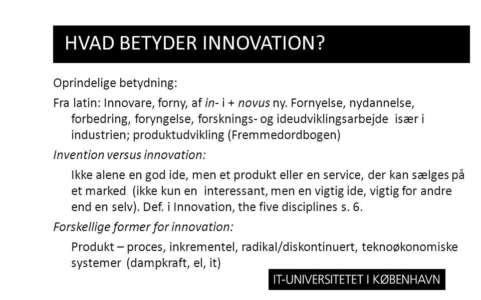 hvad betyder Innovation