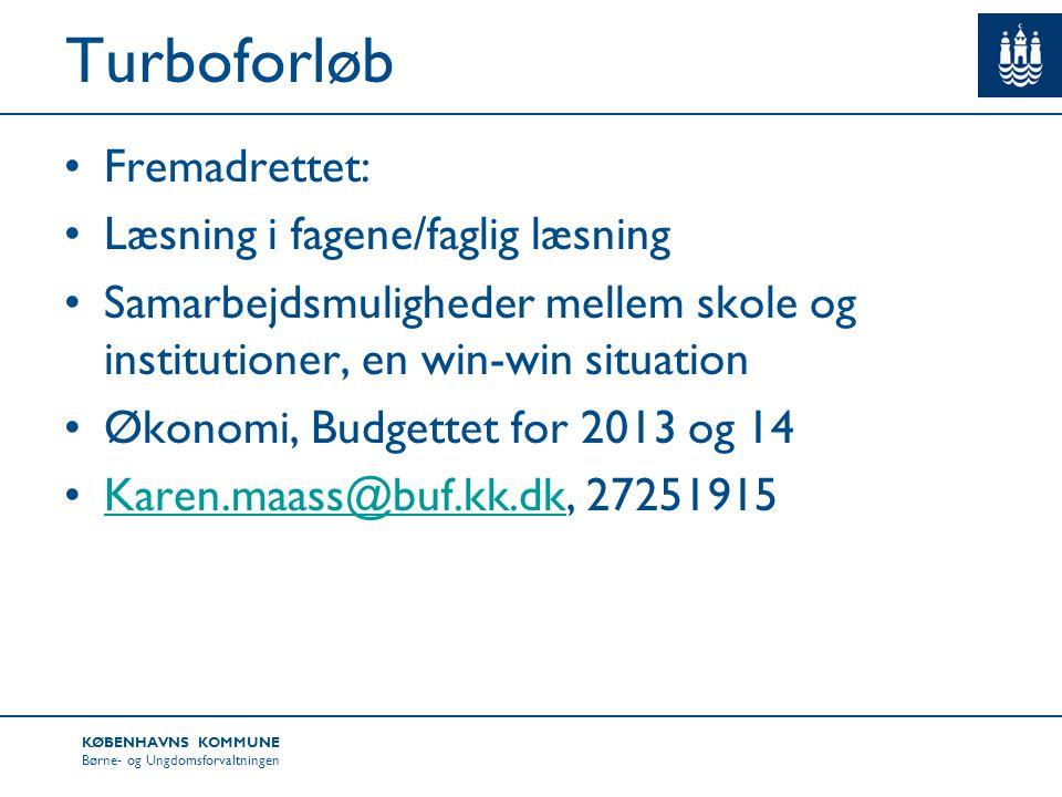 Turboforløb Fremadrettet: Læsning i fagene/faglig læsning