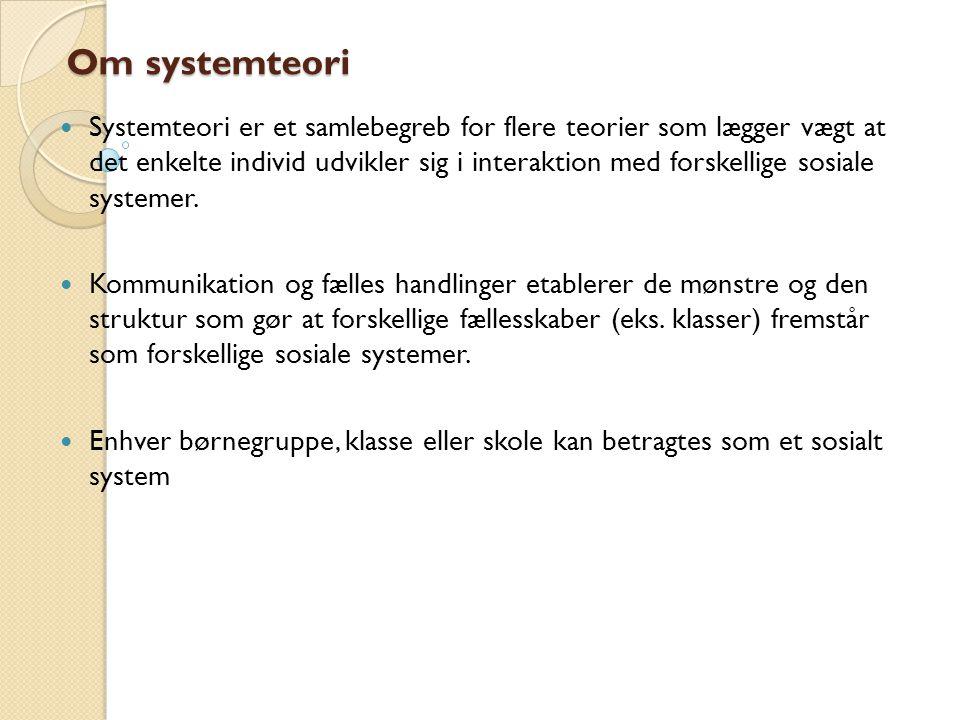 Om systemteori
