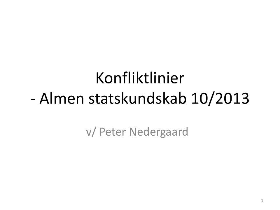 Konfliktlinier - Almen statskundskab 10/2013