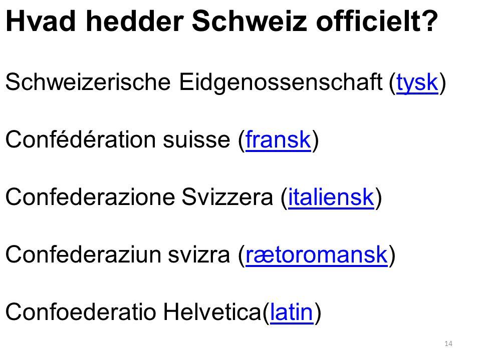 Hvad hedder Schweiz officielt