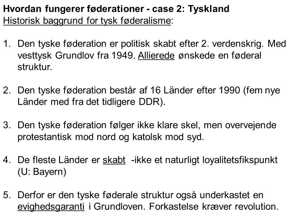 Hvordan fungerer føderationer - case 2: Tyskland