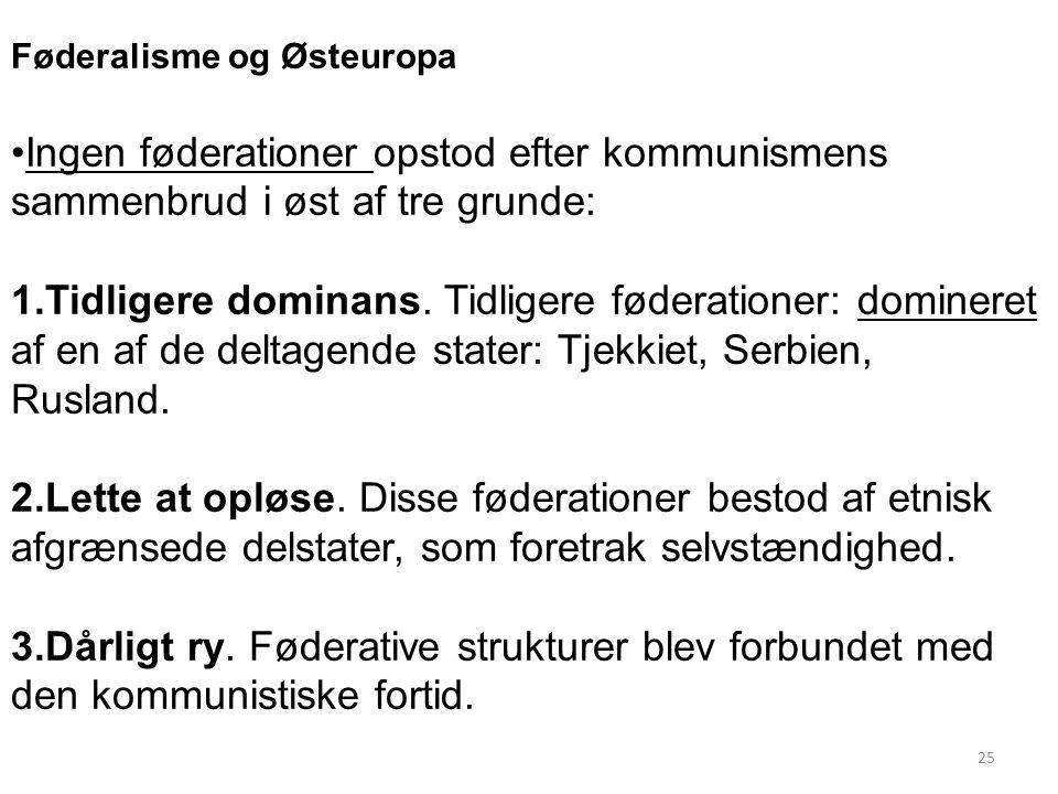 Føderalisme og Østeuropa