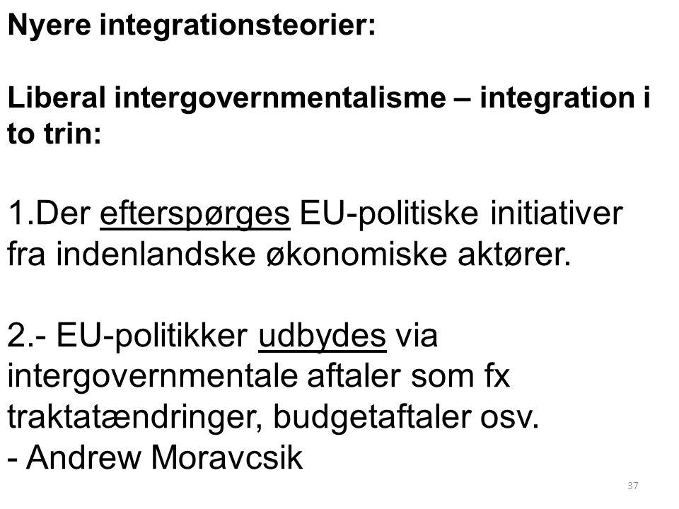 Nyere integrationsteorier: