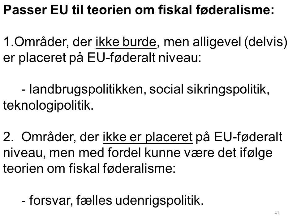 Passer EU til teorien om fiskal føderalisme: