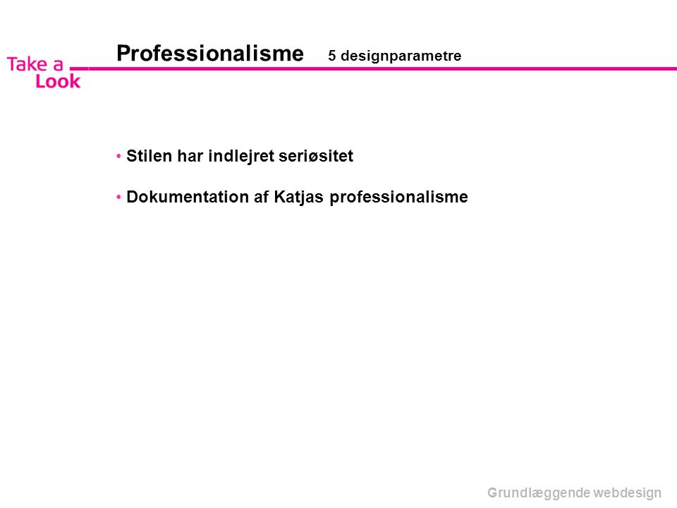 Professionalisme 5 designparametre