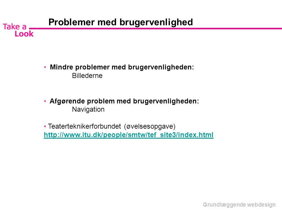 Problemer med brugervenlighed