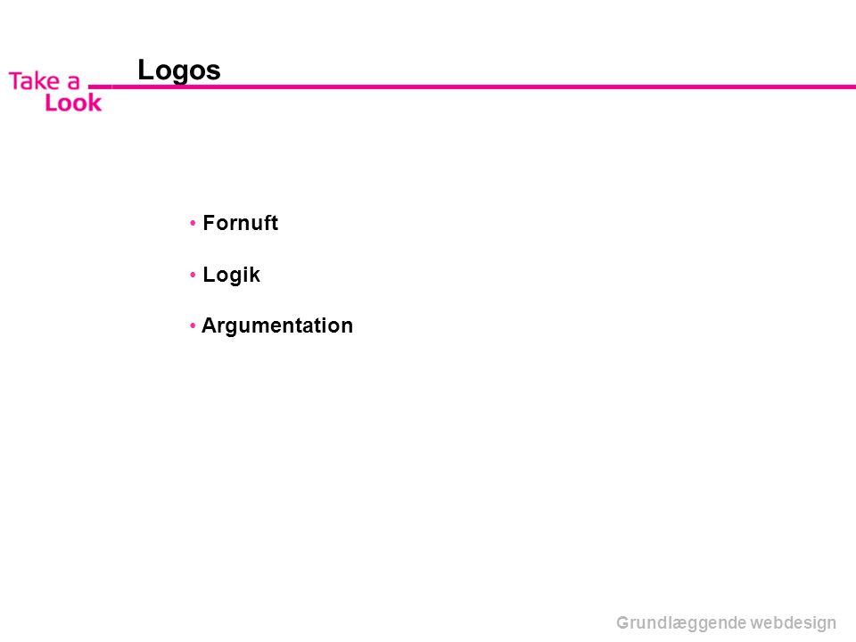 Logos Fornuft Logik Argumentation Grundlæggende webdesign
