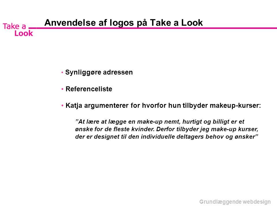 Anvendelse af logos på Take a Look