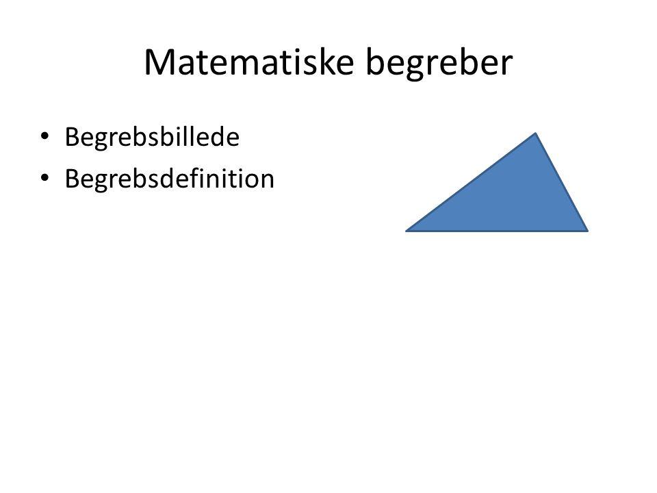 Matematiske begreber Begrebsbillede Begrebsdefinition