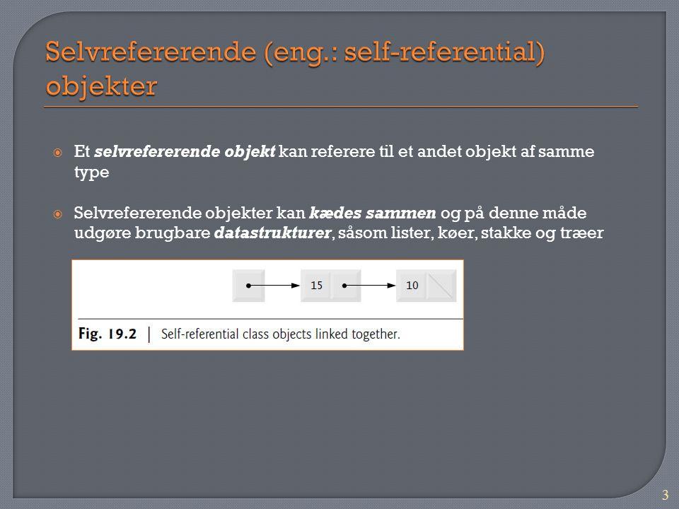 Selvrefererende (eng.: self-referential) objekter