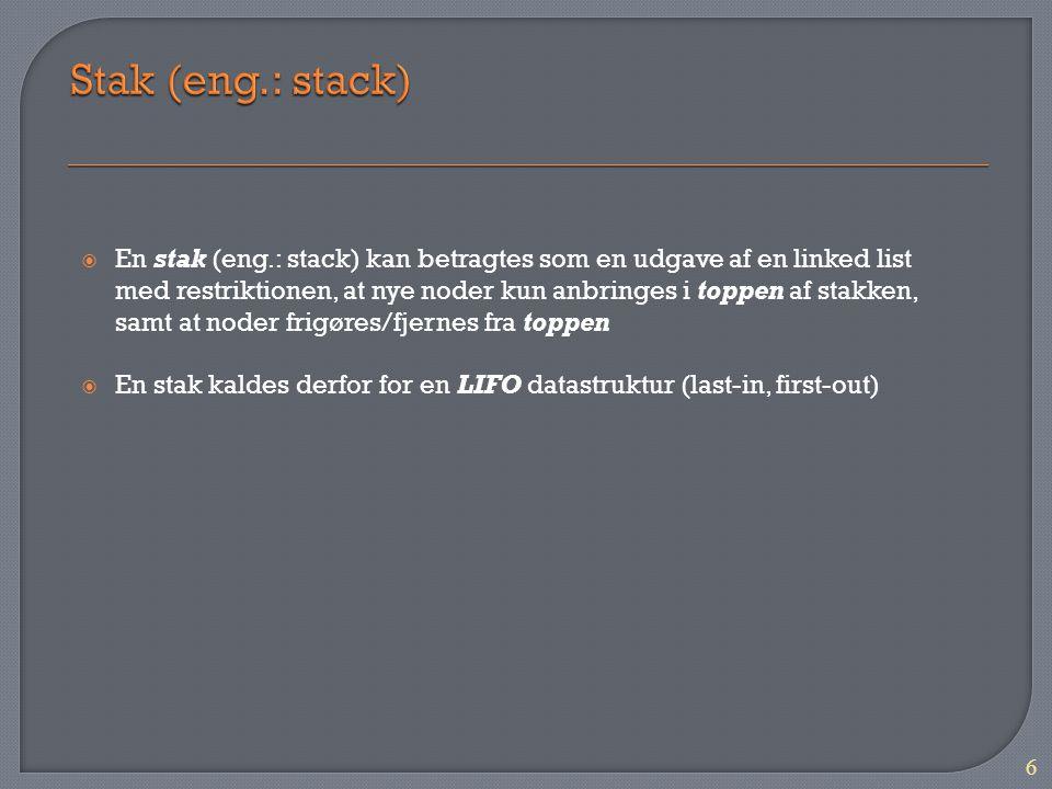 Stak (eng.: stack)