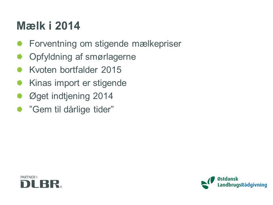 Mælk i 2014 Forventning om stigende mælkepriser