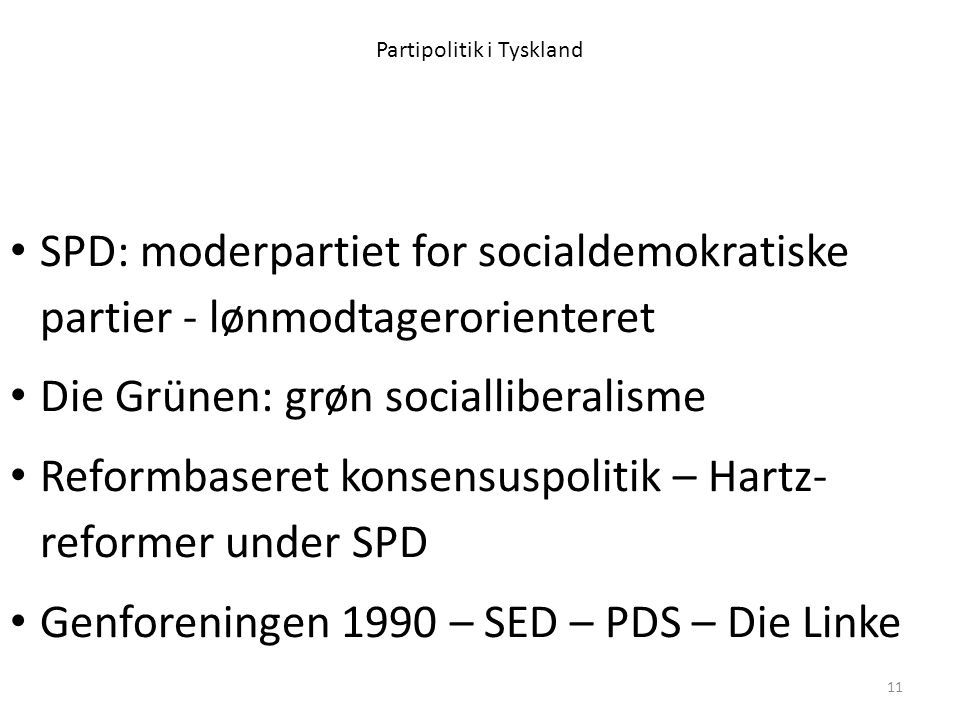 Partipolitik i Tyskland