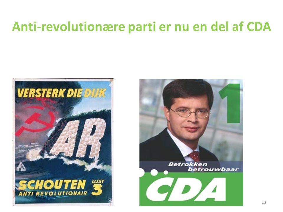 Anti-revolutionære parti er nu en del af CDA
