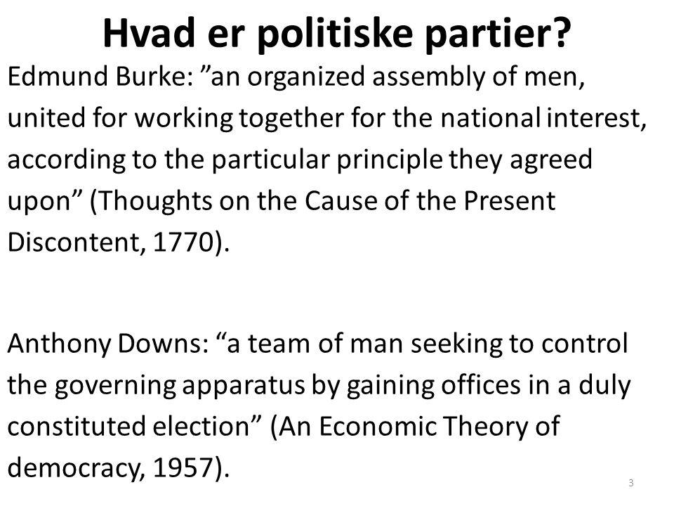 Hvad er politiske partier