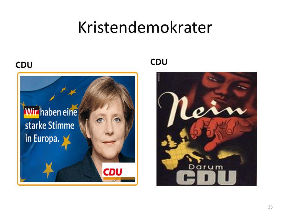 Kristendemokrater CDU CDU