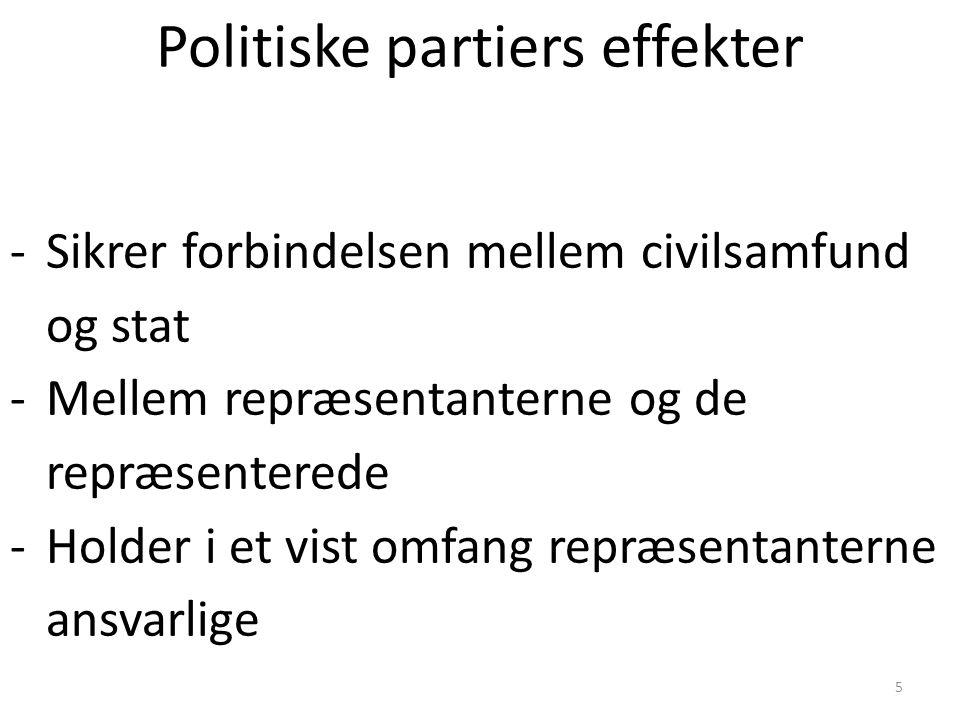 Politiske partiers effekter