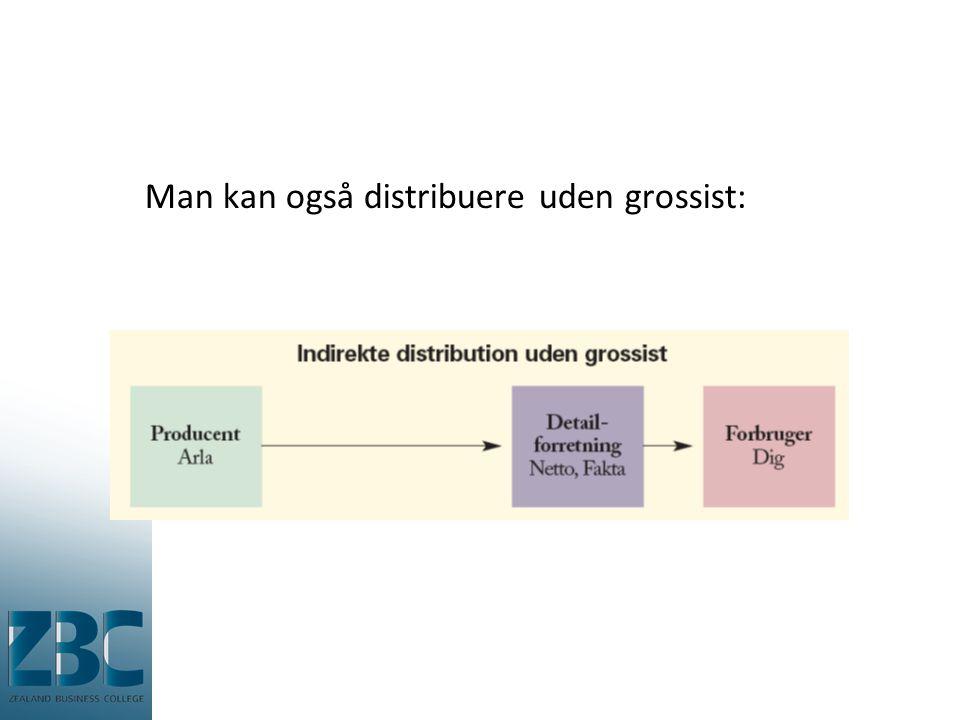 Man kan også distribuere uden grossist: